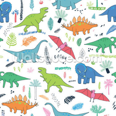 Dino Gang Wallpaper Wall Murals