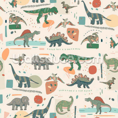 Dinosaur Zoo Wallpaper Wall Murals