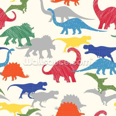 Colourful Dinosaur Wallpaper Wall Murals