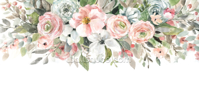 Floral Border Wallpaper Wall Murals