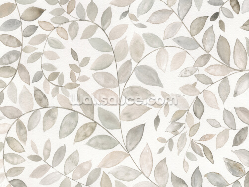 Leafy Blossoms Wallpaper Wall Murals