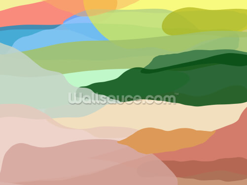 Rainbow Hills Wallpaper Wall Murals