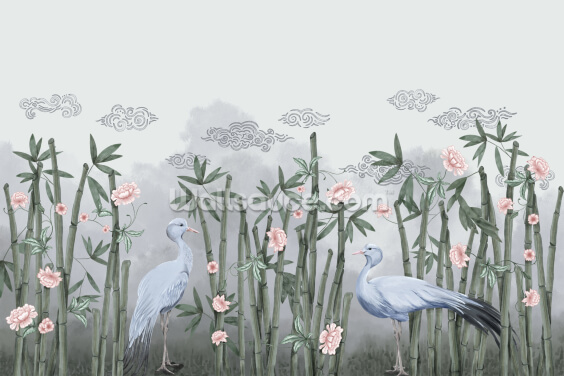 Bamboo Habitat Wallpaper Wall Murals