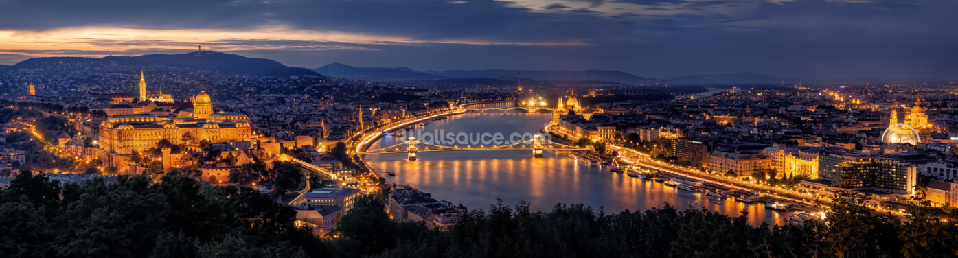 Panorama of Budapest Wallpaper Wall Murals