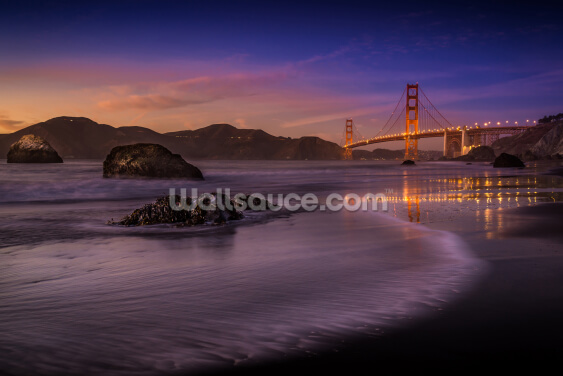 Golden Gate Bridge Fading Daylight Wallpaper Wall Murals