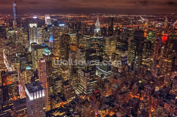 New York Night Life Wallpaper Wall Murals