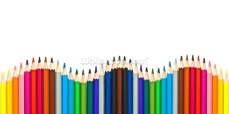 Coloured Pencils Wallpaper Wall Murals