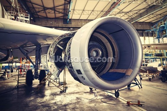 Jet Engine Wallpaper Wall Murals
