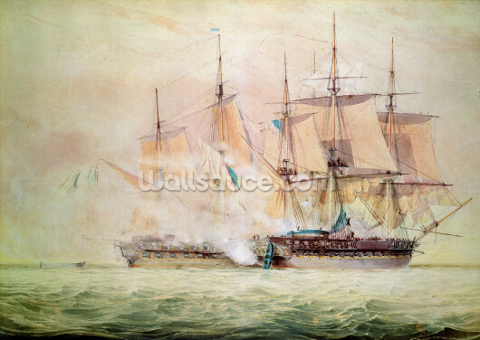 Boarding the Chesapeake (w/c on paper) Wallpaper Wall Murals