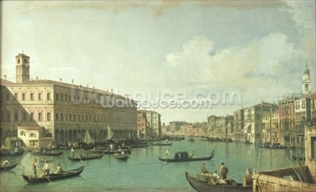 Grand Canal from Rialto Bridge Wallpaper Wall Murals