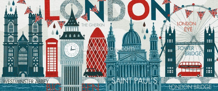 Hello London Wallpaper Wall Murals