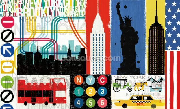 New York City Life IV Wallpaper Wall Murals
