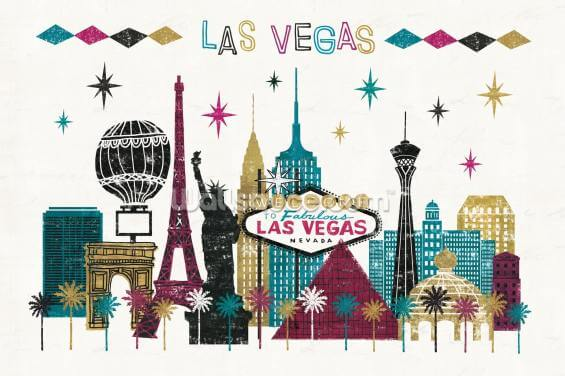 Vegas Skyline Wallpaper Wall Murals