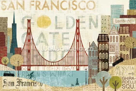 Hey San Francisco Wallpaper Wall Murals