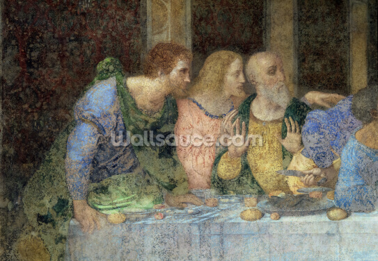 The Last Supper, 1495-97 (fresco) (post restoration) Wallpaper Wall Murals