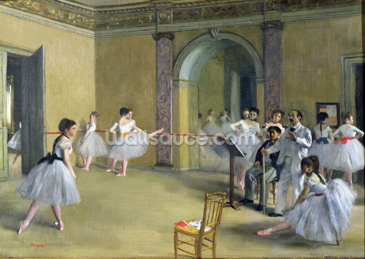 The Dance Foyer at the Opera on the rue Le Peletier, 1872 (oil on canvas) Wallpaper Wall Murals