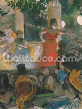 Cafe Concert at Les Ambassadeurs, 1876-77 (pastel on paper) Wallpaper Wall Murals