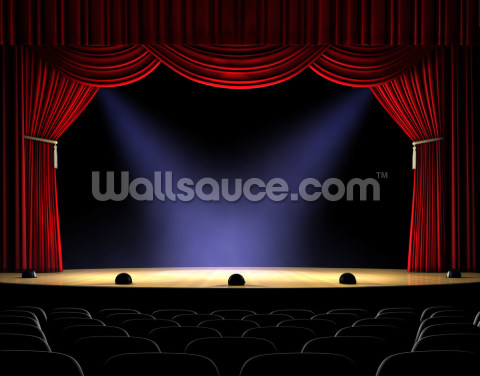 Lit Stage Wallpaper Wall Murals
