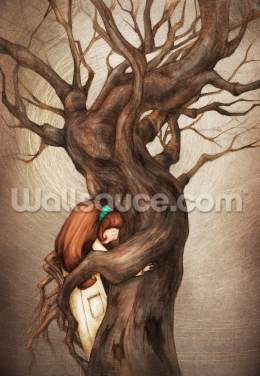 I Love You Old Tree Wallpaper Wall Murals