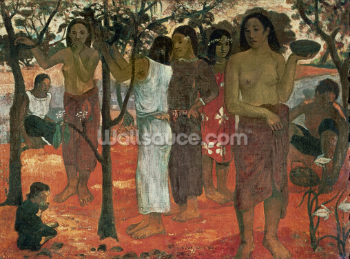 Nave Nave Mahana (Delightful Days), 1896 (oil on canvas) Wallpaper Wall Murals