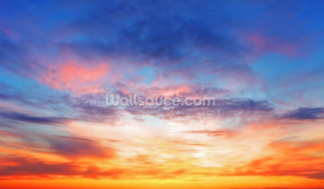 Burning Sunset Wallpaper Wall Murals