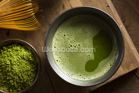 Matcha Tea Wallpaper Wall Murals