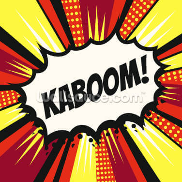 Pop Art - Kaboom Wallpaper Wall Murals