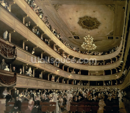 The Auditorium of the Old Castle Theatre, 1888 (oil on canvas) Wallpaper Wall Murals