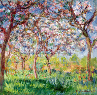Printemps a Giverny, 1903 (oil on canvas) Wallpaper Wall Murals