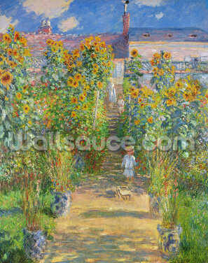 The Artists Garden at Vetheuil, 1880 (oil on canvas) Wallpaper Wall Murals