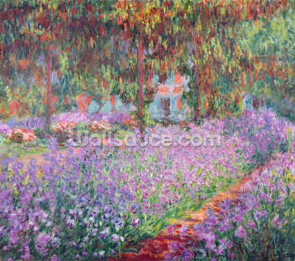 The Artists Garden at Giverny, 1900 (oil on canvas) Wallpaper Wall Murals