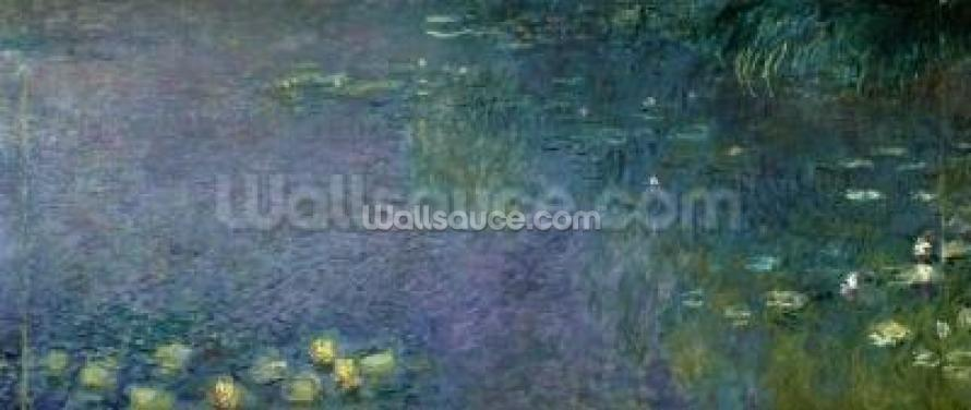 Waterlilies: Morning, 1914-18 (centre right section) Wallpaper Wall Murals