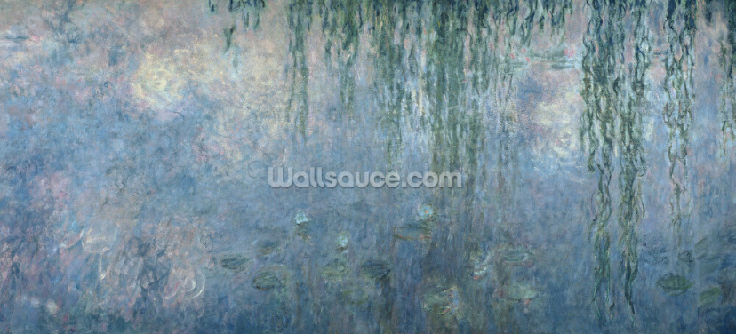 Waterlilies: Morning with Weeping Willows, detail of central section, 1914-18 (oil on canvas) Wallpaper Wall Murals