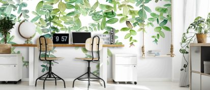 Evergreen Hanging Eucalyptus Wallpaper Wallsauce Uk