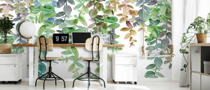 Hanging Eucalyptus Wallpaper Wallsauce Us