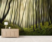 Run Forest mural wallpaper living room preview