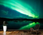 The Northern Lights mural wallpaper kitchen preview