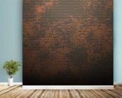Mottled wall mural in-room view