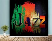 Just Jazz wall mural in-room view