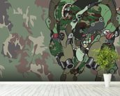 Woodland Camo Protection Bot (2012) wallpaper mural in-room view