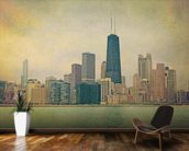 Vintage Chicago wall mural kitchen preview