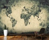 Ancient World Map Sketch wallpaper mural kitchen preview