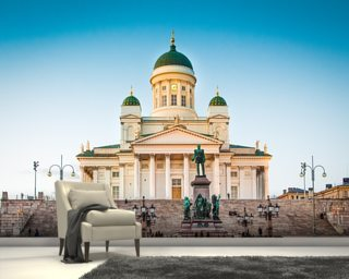Helsinki Cathedral wall mural