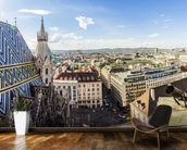 Panoramic View of Vienna wall mural kitchen preview