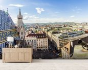 Panoramic View of Vienna wall mural living room preview