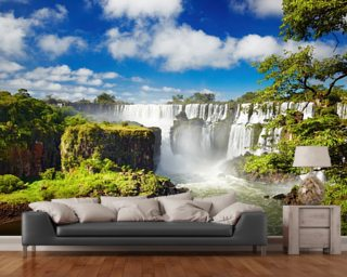 Iguassu Falls from Argentinian side mural wallpaper