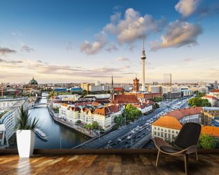 Berlin Afternoon Cityscape mural wallpaper