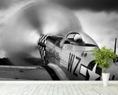 p-51 Fighter wall mural in-room view