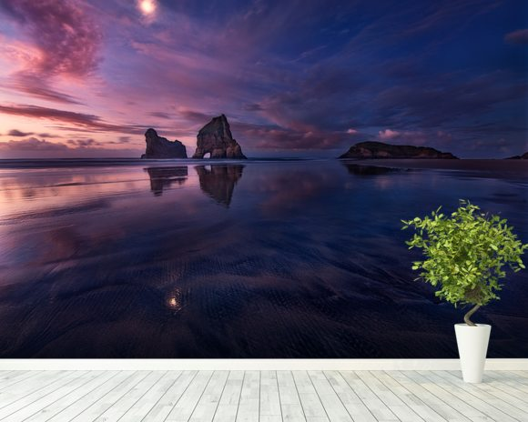 Golden Bay When Night Falls wall mural room setting