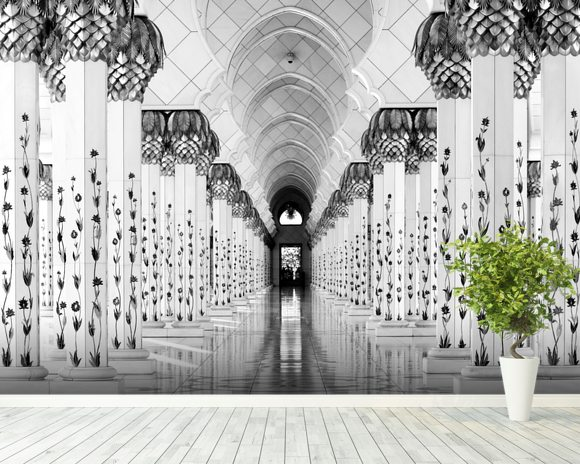 Sheik Zayed Mosque wallpaper mural room setting
